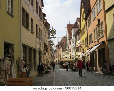 Street of Rothenburg ob de Tauber