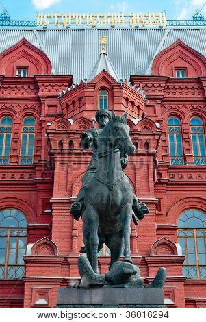 The monument to the Soviet Union marshal Georgy Zhukov