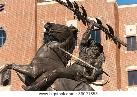 Statue Of Chief Osceola And Renegade