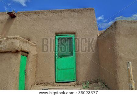 Green Doors Taos Pueblo