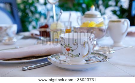 Delicate Porcelain Tea Cup With Spoon