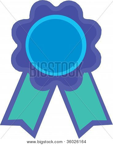 Illustration Of A Blue Ribbon