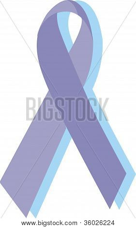 Eating Disorders Ribbon; Purple