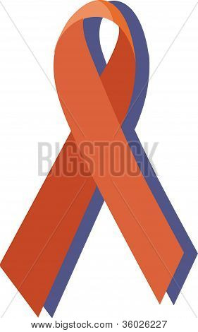 Illustration Of An Aids Ribbon