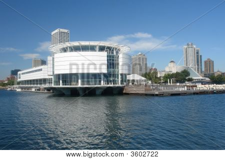 Lago de forma urbana Milwaukee