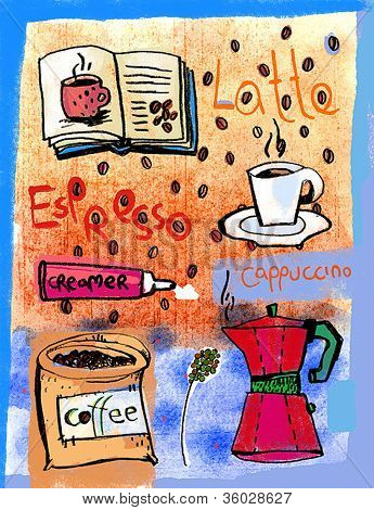 An Illustration Of Different Types Of Coffee