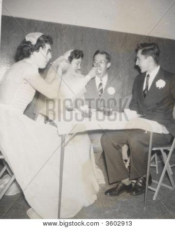 Vintage Wedding Photo Early 1930S