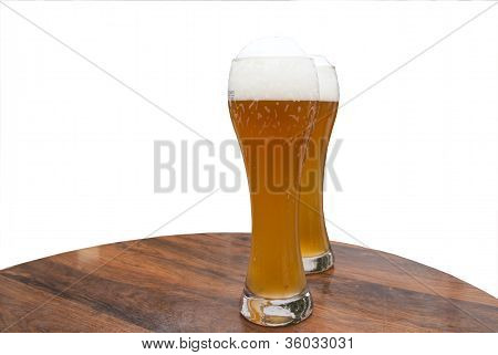 Two Glasses Of Weizen Beer