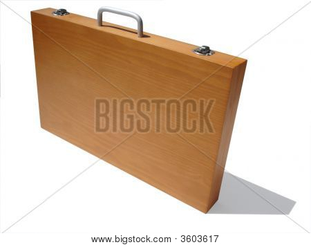 Wooden Art Case Isolated