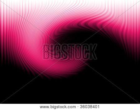 Fuschia Hot Pink Swirl Against Black