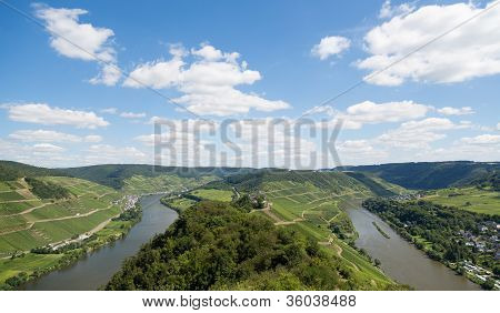 Landscape With The River Moselle In Germany