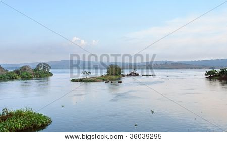 Near River Nile Source In Africa