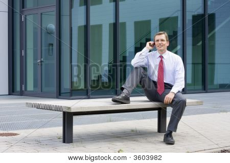 Businessman Making A Phone Call