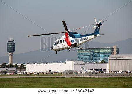 Air Ambulance In Flight