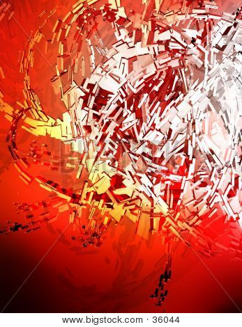 Red 3D Background