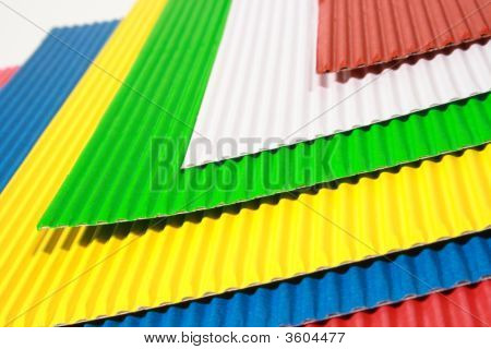 Crimped Colour Paper
