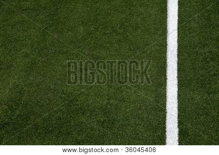 White Stripe On The Soccer Field