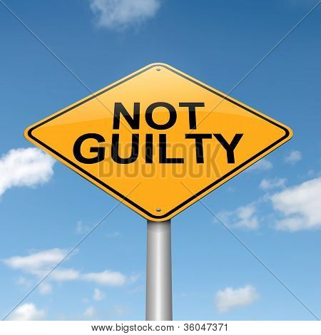 Not Guilty Concept.