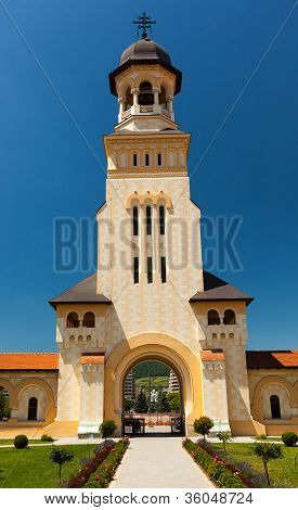 Entrance In Coronation Cathedral From Alba Iulia