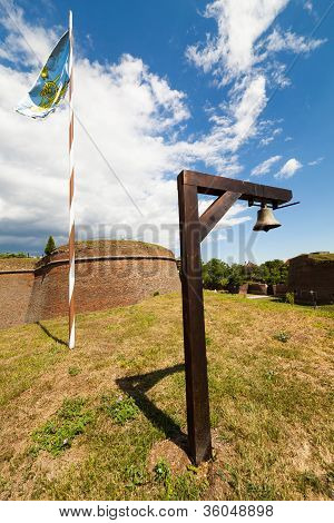 Regimental Bell And Flag