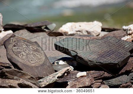 Budhst Prayer Stones