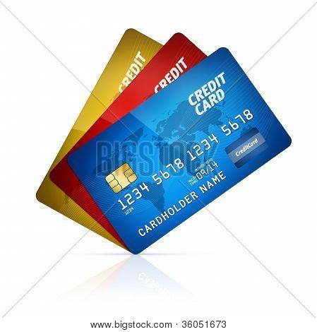 Creditcard collectie geïsoleerd