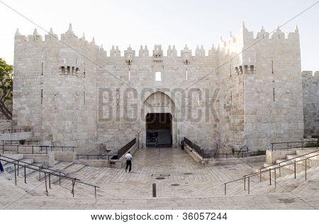 Damascus Gate Entry To Old City Jerusalem Palestine Israel