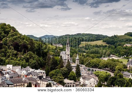 The Pilgrimage Town Of Lourdes