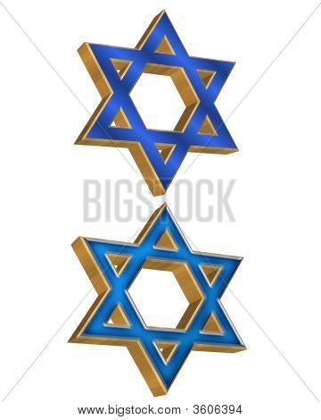 Jewish Star Of David 3D 2 Styles