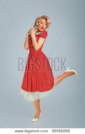 Girl In Spotted Dress