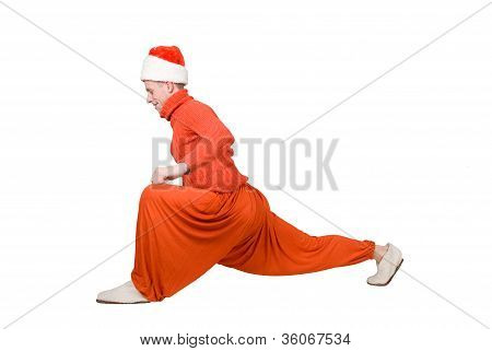 Santa Claus Is Making Yoga