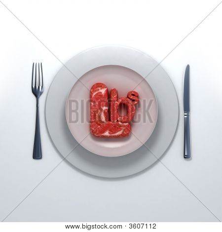 Raw Pounds Of Meat  On A Platter