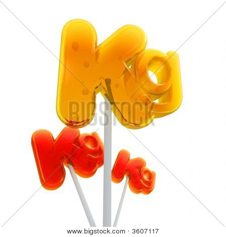 Trio Of Kilo Symbol Lollipops
