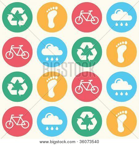 Padrão de fundo transparente verde Eco