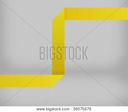 Yellow Origami Background