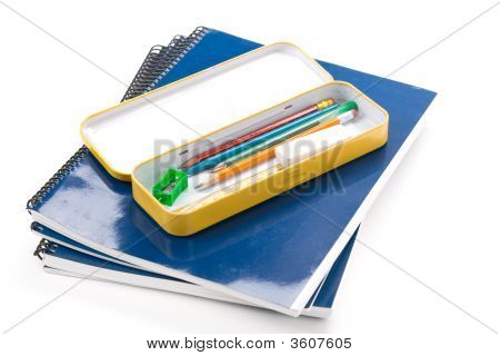 Metal Pencil Case And Book