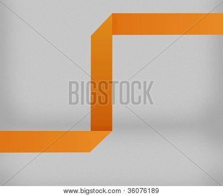 Orange Origami Background