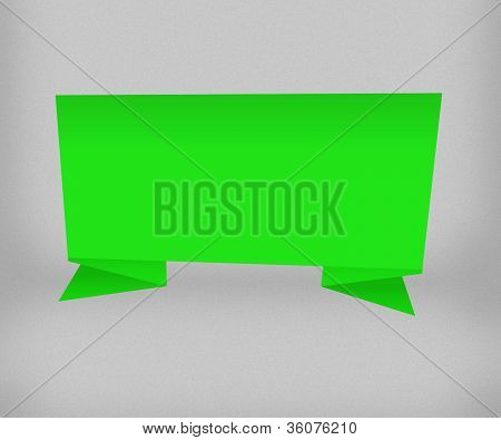 Green Origami Background Image