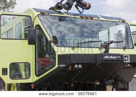 Oshkosh Corp Striker 3000 6X6 Vehicle Close Up