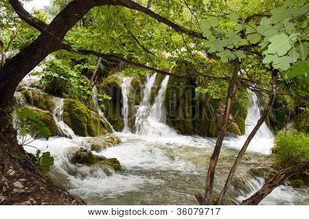Waterfalls In Plitvice, Croatia