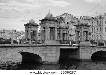 Lomonosov Bridge across Fontanka in St.Petersburg.