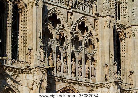 Details Of Principal Facade Of Burgos Cathedral. Spain