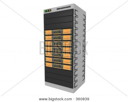 3d Servers-orange #1