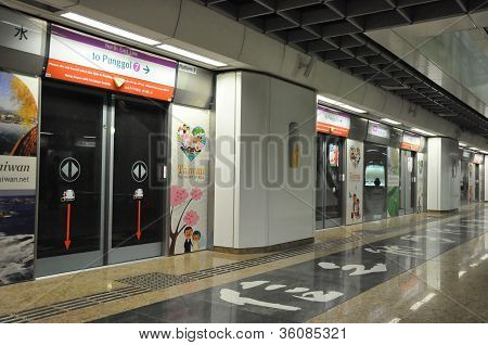 The Mass Rapid Transit (MRT) station in Singapore