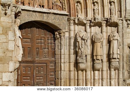 Door Jambs Of San Esteban Church, Burgos. Spain