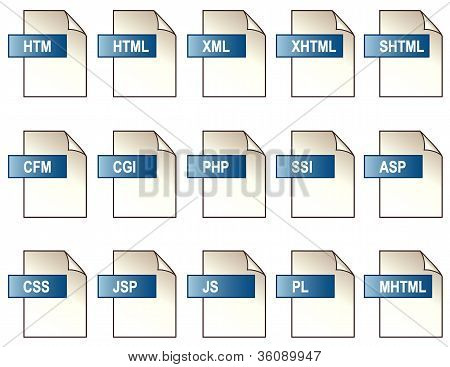 Digital Web File Format Icons