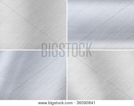 Set Of Dark And Light Grey Metal Textures