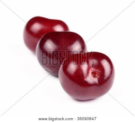 Group Of Sweet Fresh Cherries