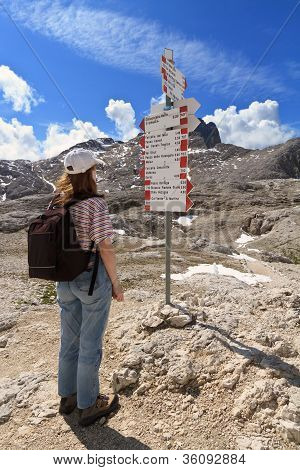 Hiker And Directions