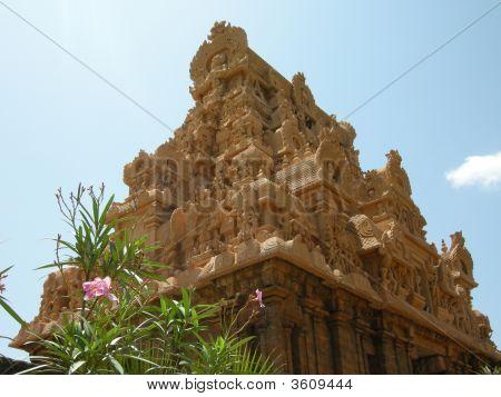 Gopuram With Flowers